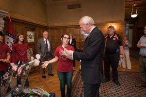 Governor Asa Hutchinson Meeting/Demo